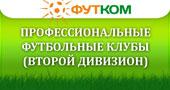 Профессиональные футбольные клубы (Второй дивизион)