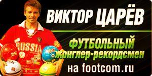 Виктор Царёв - артист оригинального жанра, футбольный жонглёр-рекордсмен